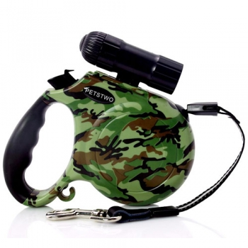 Retractable Dog Leash with LED Flashlight