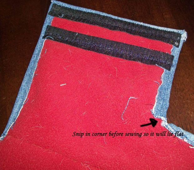 Adding Velcro fastener