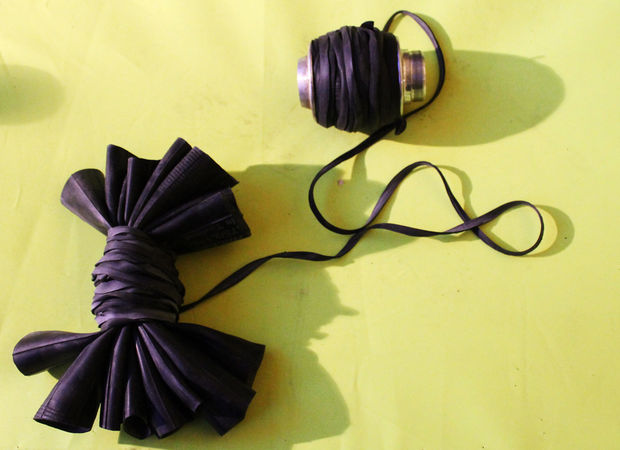 Grab Your Short Tubes Round the Middle and Bind with Inner Tube Thread