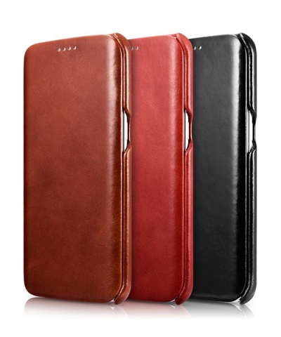 iCarer Genuine Leather Case for Samsung Galaxy S7 Edge