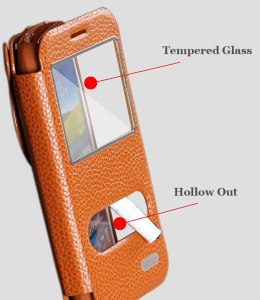 Stylish Leather Case for Samsung Galaxy K Zoom